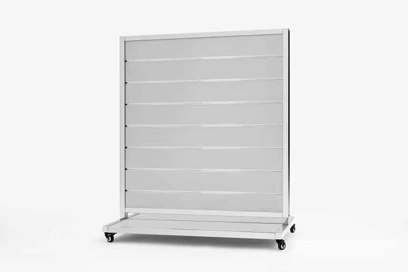 Mobile Presentation Wall Grey 15cm 170x120