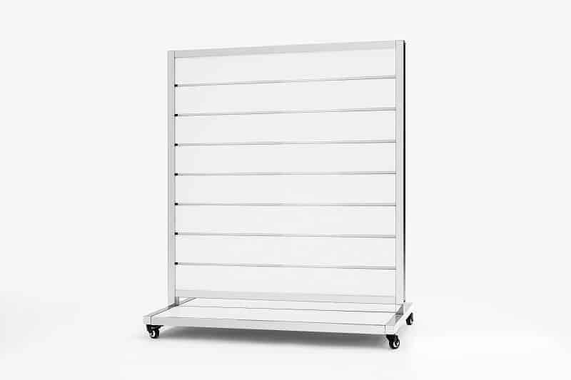 Mobile Presentation Wall White 15cm 170x120