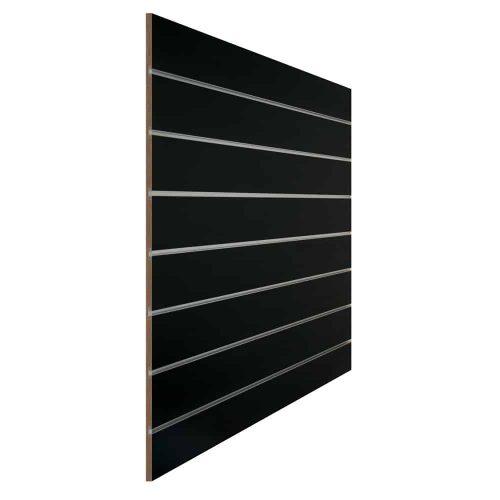 slatwall zwart 15cm met inschuifprofiel