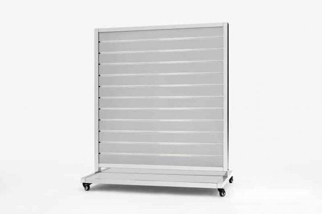 Mobile Presentation Wall Grey 10cm 170x120