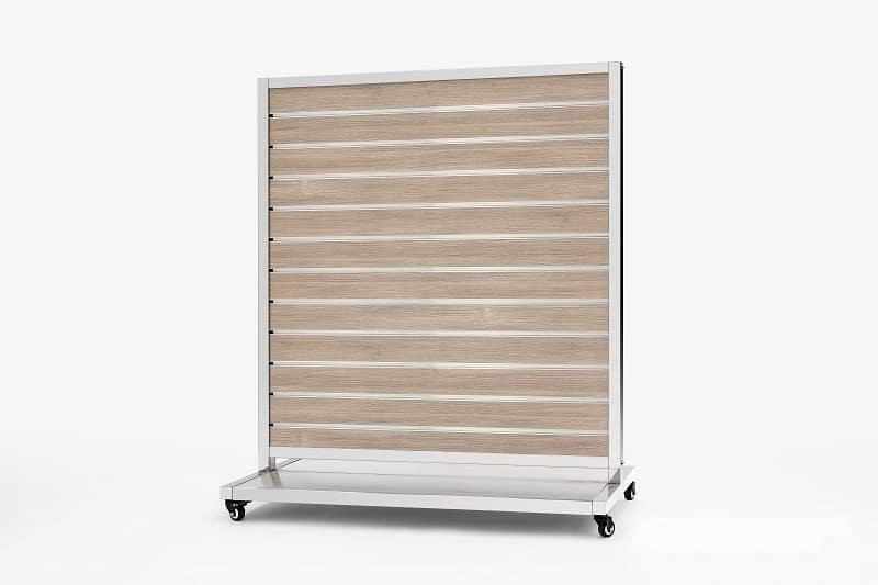 Mobile Presentation Wall Warm Oak 10cm 170x120