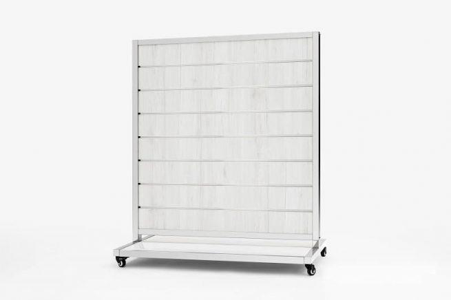 Mobile Presentation Wall White Oak 15cm 170x120