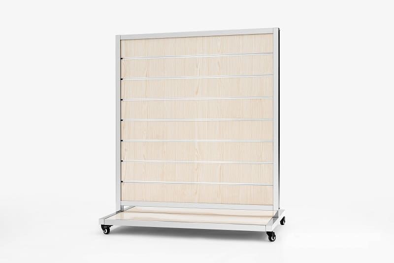 Mobile Presentation Wall White Ash 15cm 170x120