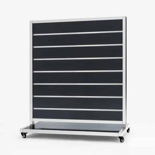 Mobile Presentation Wall Black 15cm 170x120