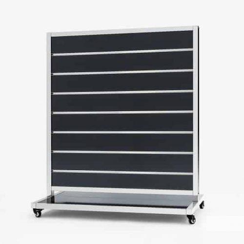 Mobile Presentation Wall Black 15cm 170x120