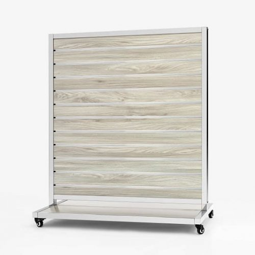 Mobile Presentation Wall New Oak 10cm 170x120