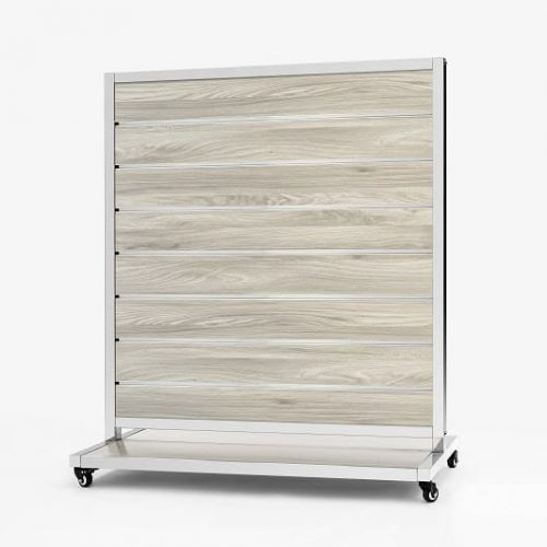 Mobile Presentation Wall New Oak 15cm 170x120