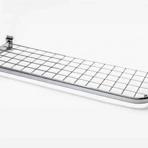 Slatwall Mesh Shelf Chrome 90x30cm